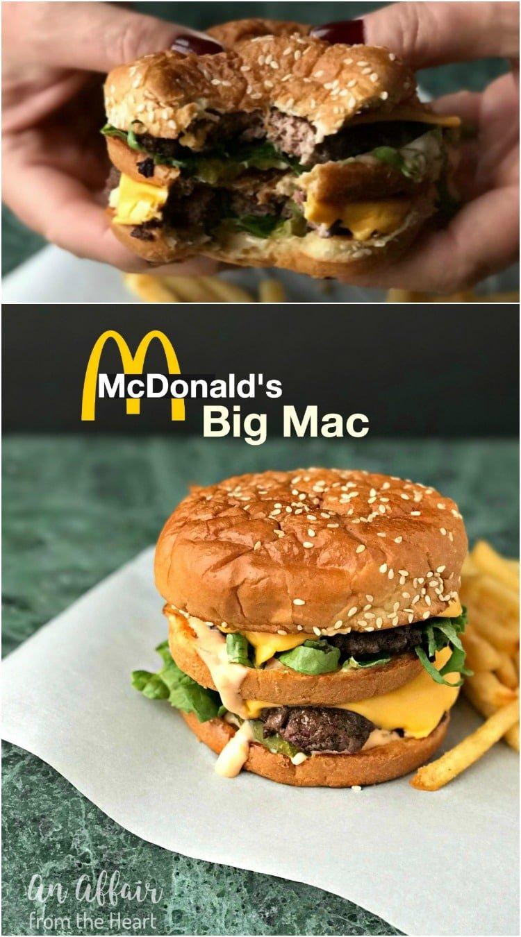 Copy Cat McDonald's Big Mac - An Affair from the Heart