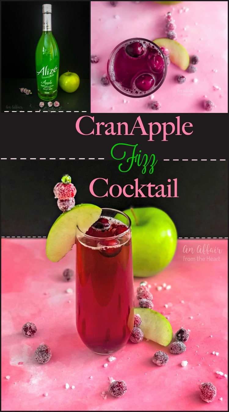 CranApple Fizz Cocktail - An Affair from the Heart
