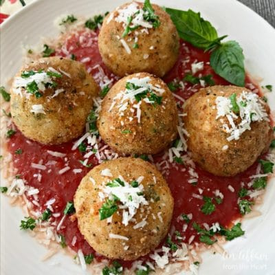 Arancini – Three Cheese Fried Risotto Balls