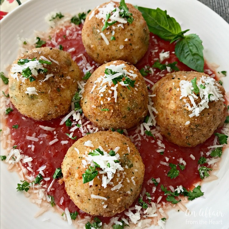 Arancini - Three Cheese Fried Risotto Balls