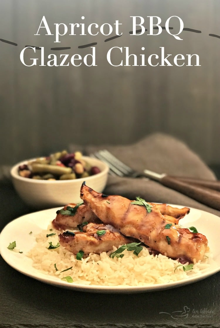Apricot BBQ Glazed Chicken