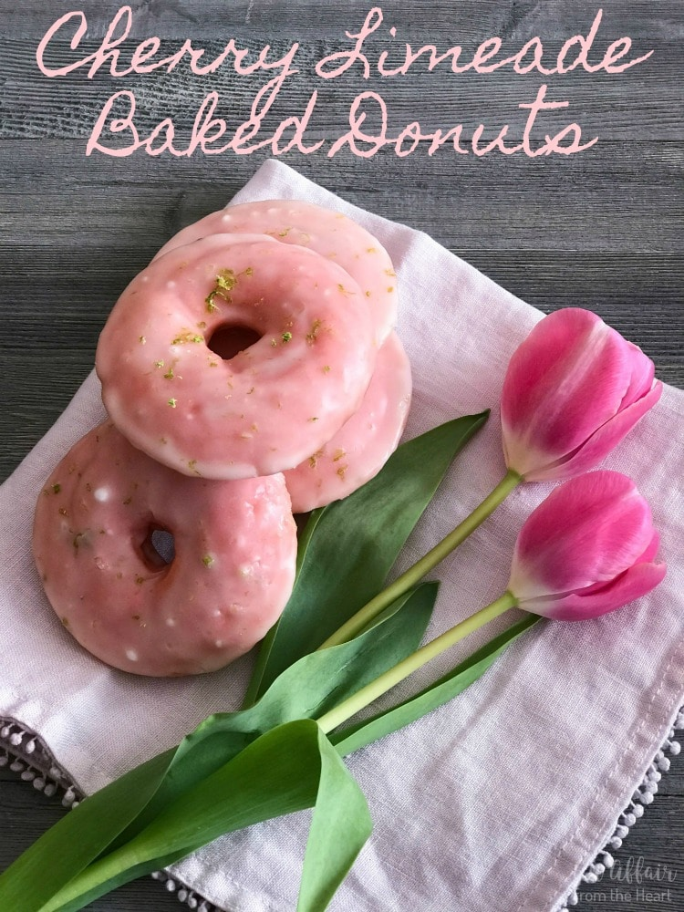 Cherry Limeade Baked Donuts