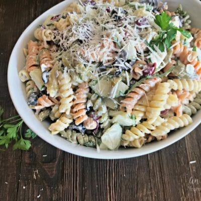 Creamy Italian Four Bean Pasta Salad