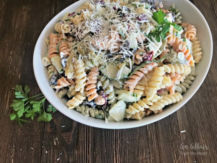Creamy Italian Four Bean Pasta Salad - An Affair from the Heart