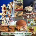 Grilling Out with Frank's Kraut - It's time to fire up the grill and embrace summertime!! Move over Ketchup and Mustard ... Frank's Kraut is the condiment that is taking over the grilling scene! Brat Burgers, Reuben Burgers, BBQ Kraut Burgers, Stuffed Brats on a Stick, Frank's Classic New York Dog and MORE!