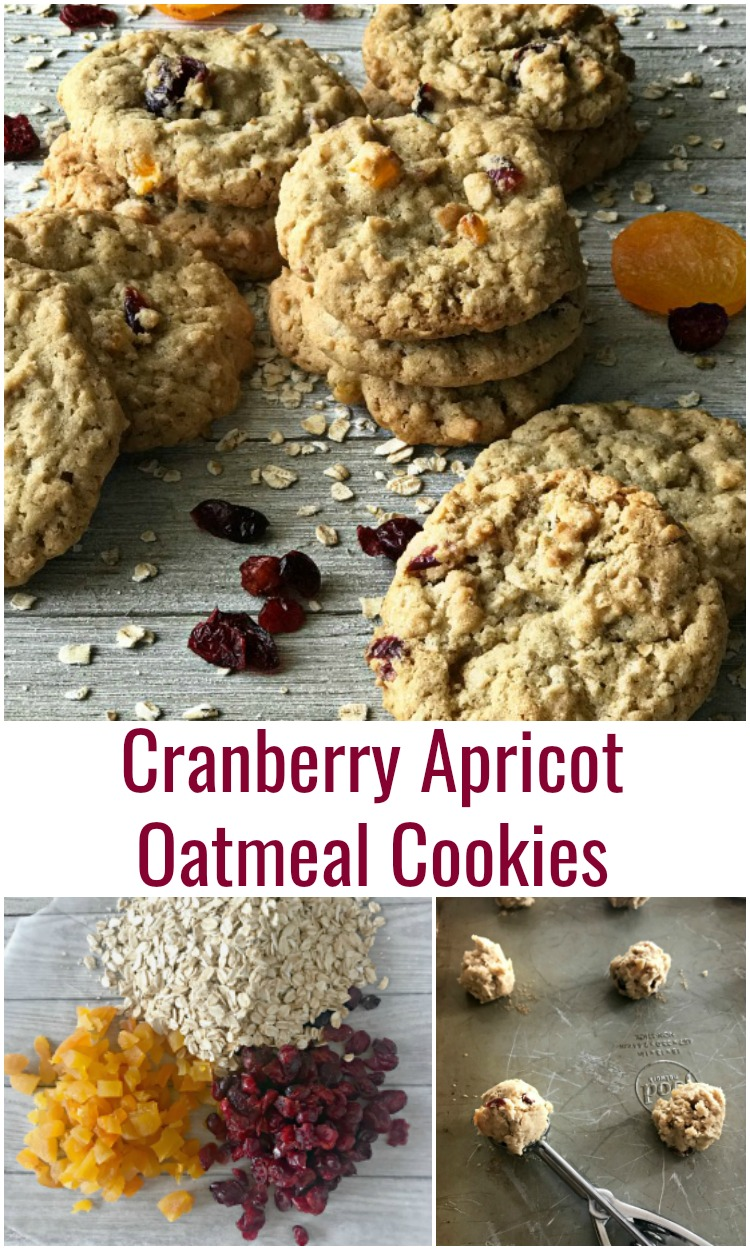Cranberry Apricot Oatmeal Cookies