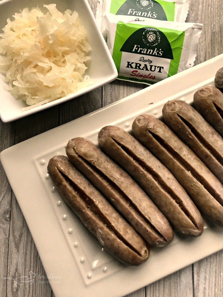 Kraut Stuffed Bacon Wrapped Brats
