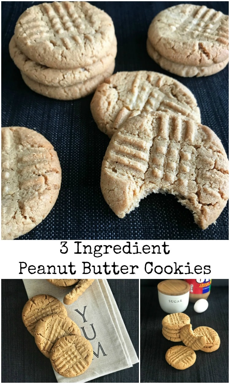 hree Ingredient Peanut Butter Cookiespin - An Affair from the Heart