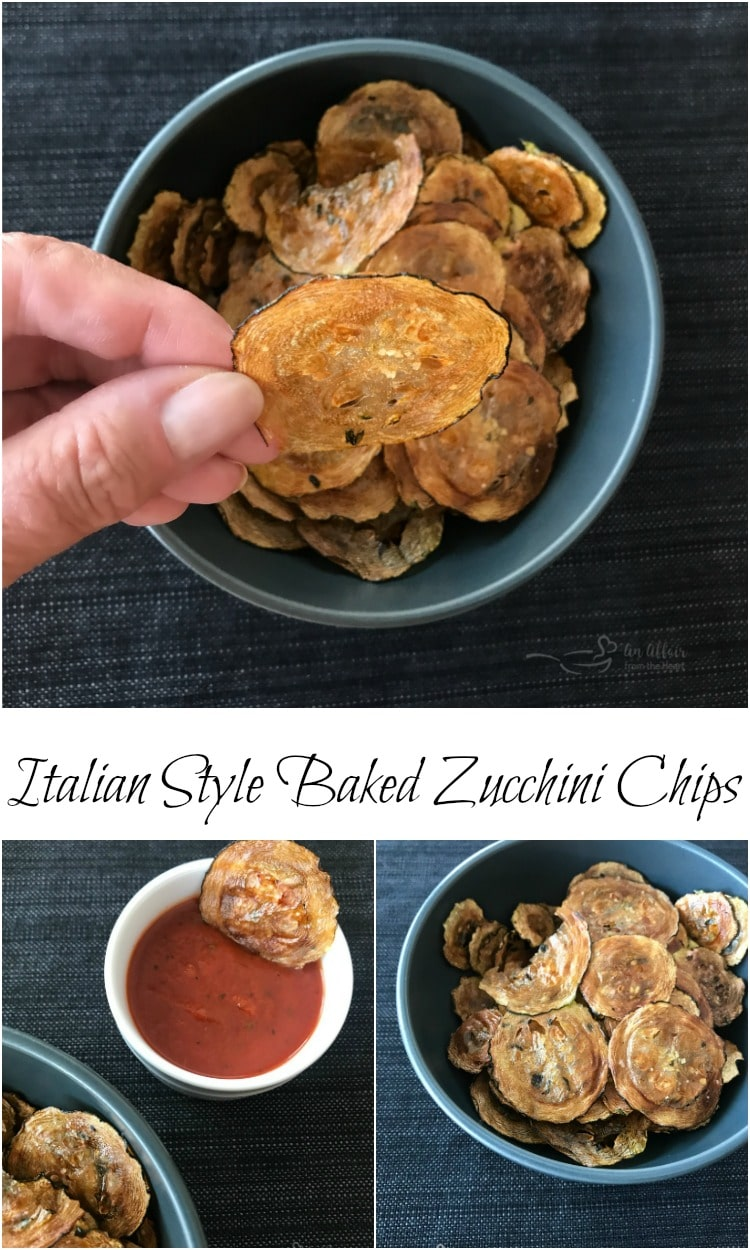 Italian Style Baked Zucchini Chips
