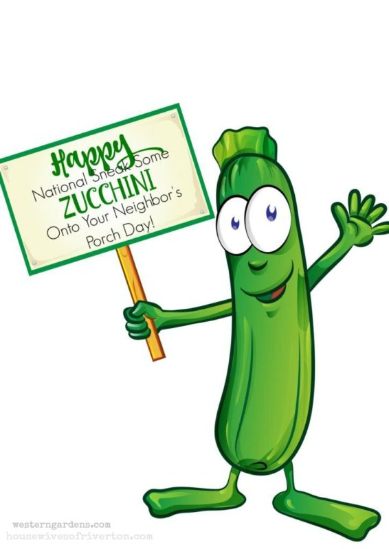 Sneak a Zucchini Onto Your Neighbor's Porch Day - Printable Tag