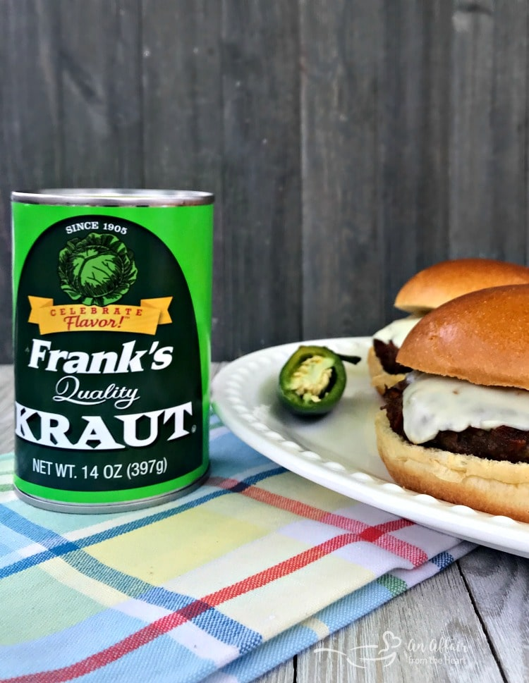 Spicy Bacon Kraut Burger