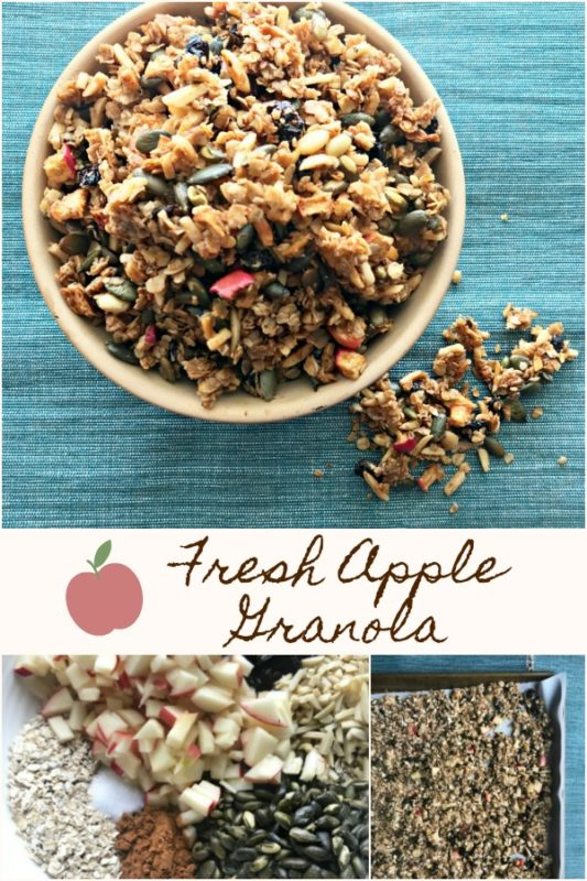 Apple Cinnamon Granola -Made with Fresh Apples -- An Affair from the Heart