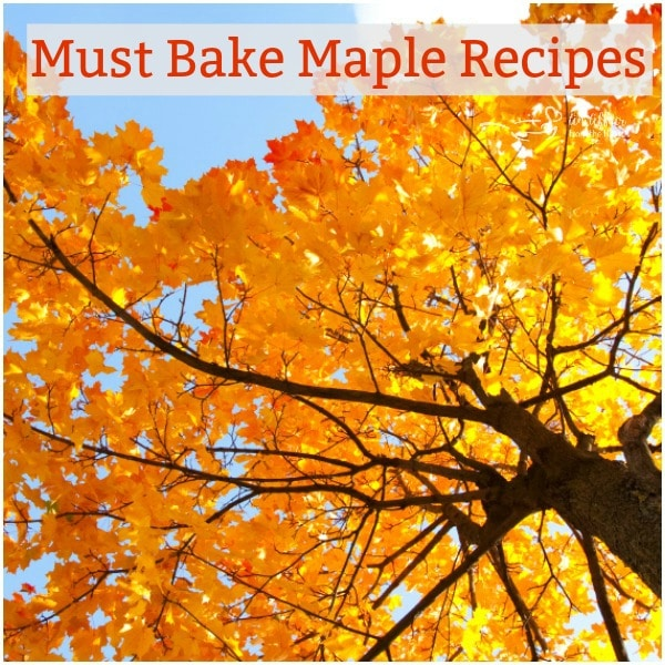 Must Bake Maple Recipes