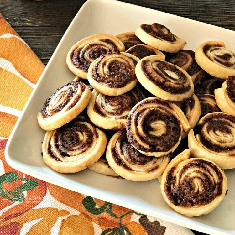 Pumpkin Spice Swirls - Left Over Pie Crust Cookies
