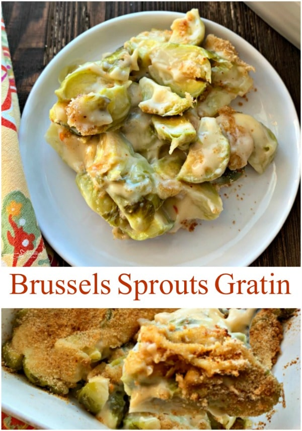 Brussels Sprouts Gratin - A Side Dish by An Affair from the Heart