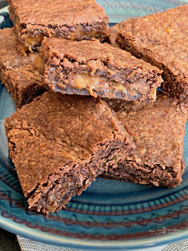 Twice the chocolate in these Double Chocolate Caramel Brownies!