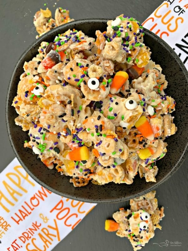 Halloween White Trash Snack Mix - An Affair from the Heart