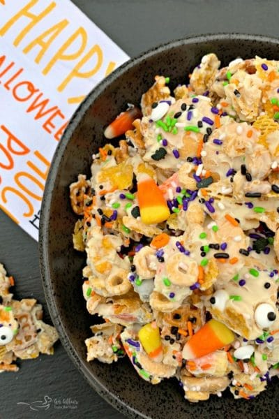 Halloween White Trash Snack Mix