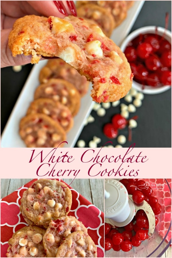White Chocolate Cherry Cookies - An Affair from the Heart