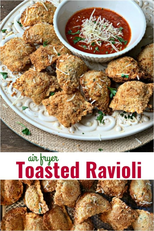 Air Fryer Toasted Ravioli - An Affair from the Heart