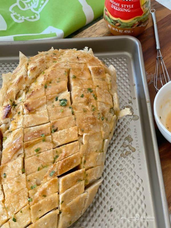 Dorothy's Cheesy Bacon Pull Apart Bread