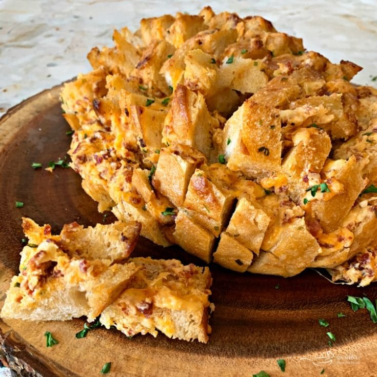 Dorothy's Cheesy Bacon Pull-Apart Bread