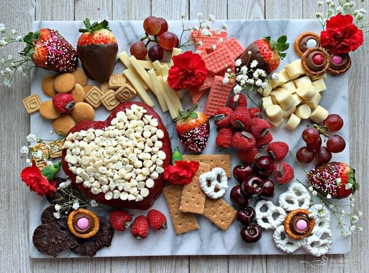 Valentine Dessert Cheese Board