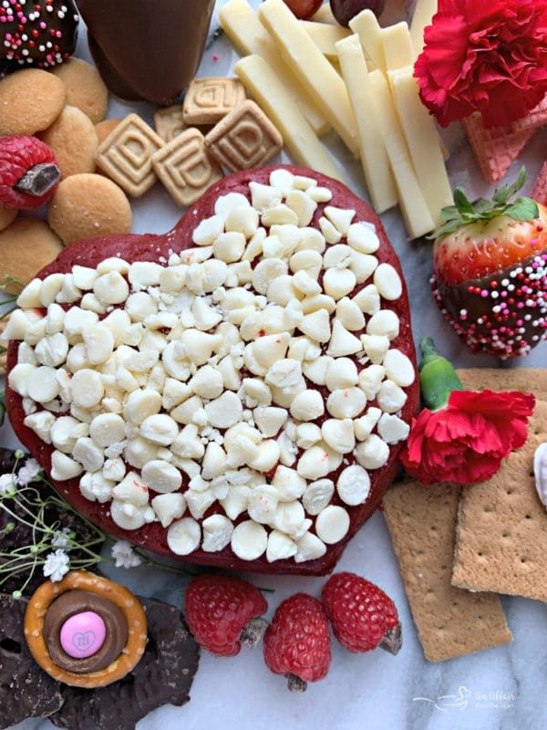 Valentine Dessert Cheese Board