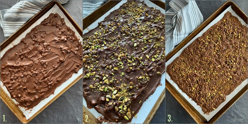 Easy Brownie Bark with Pistachios