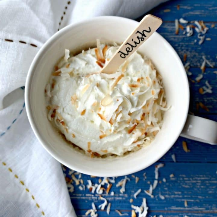 Coconut Mug Cake Simple Dessert For One Made In Minutes