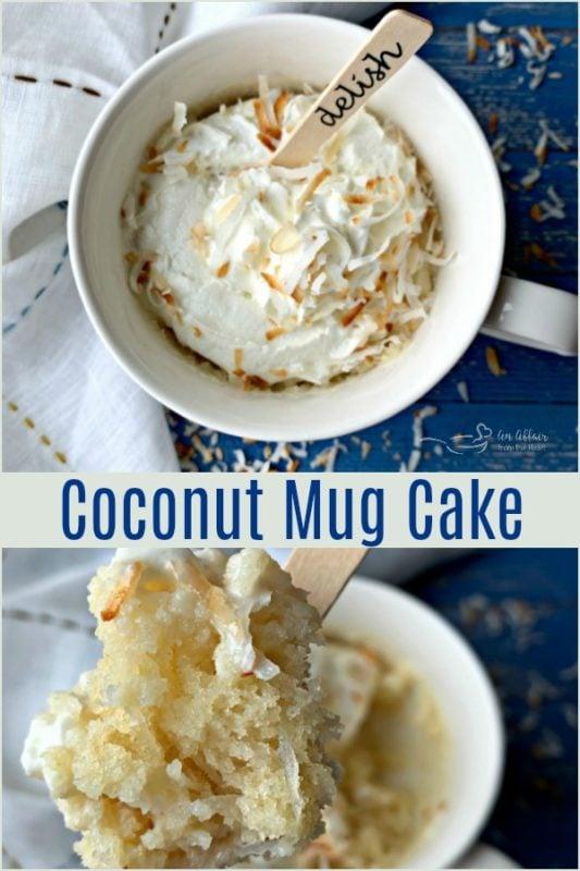 Coconut Mug Cake - An Affair from the Heart