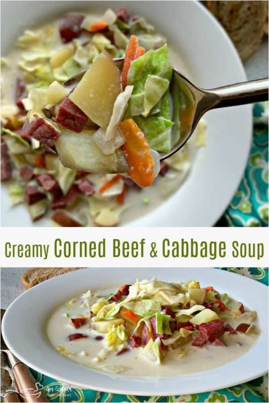 Creamy Corned Beef & Cabbage Soup