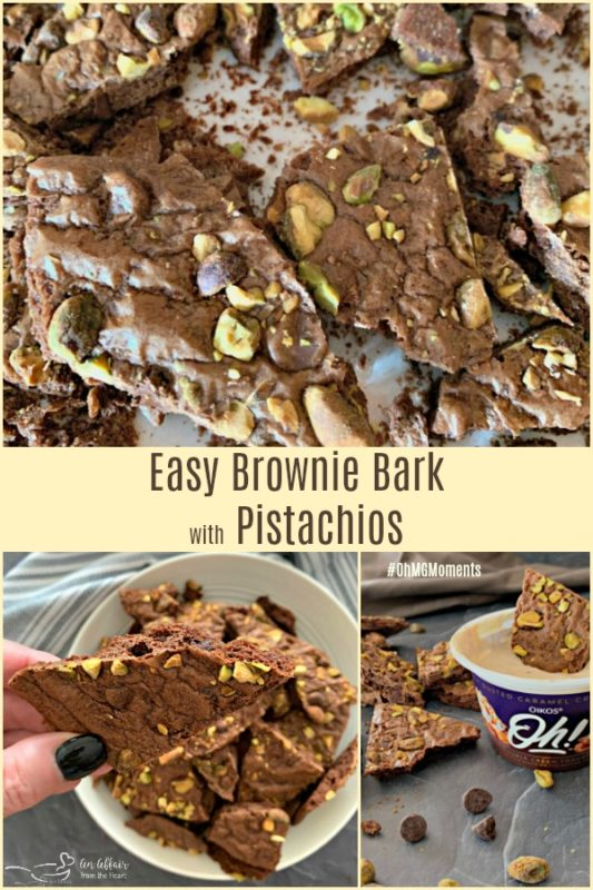 Easy Brownie Bark with Pistachios - An Affair from the Heart