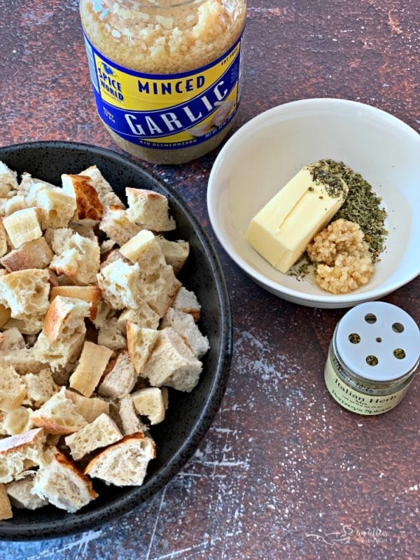 Make Homemade Croutons from leftover bread