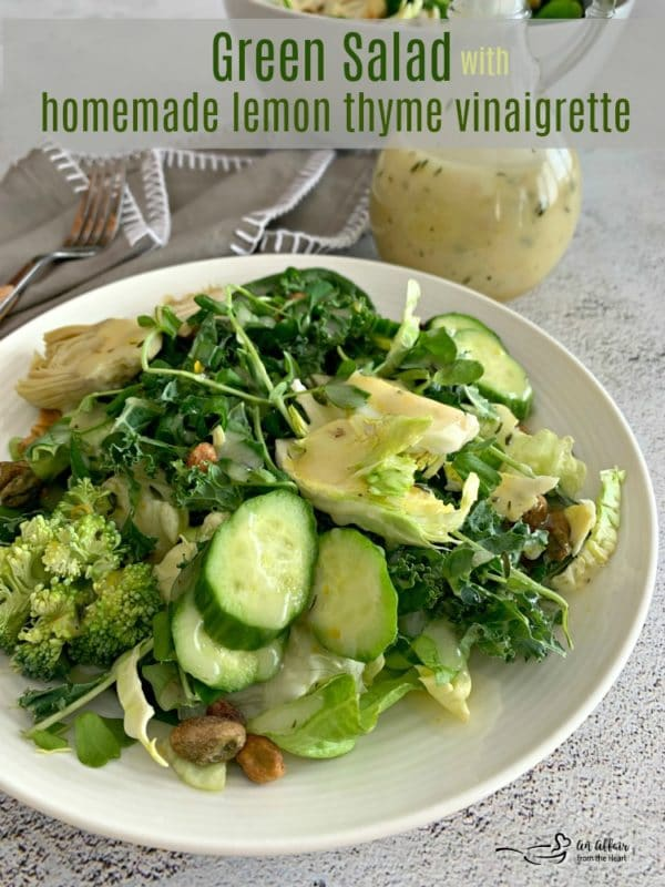 Green Salad with Lemon Thyme Vinaigrette