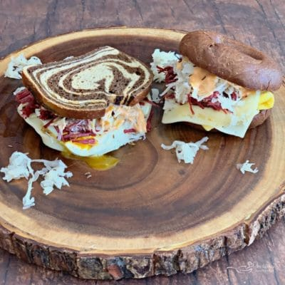 Reuben Breakfast Sandwiches Two Ways
