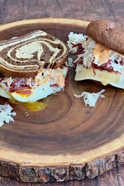 Reuben Breakfast Sandwiches Two Ways