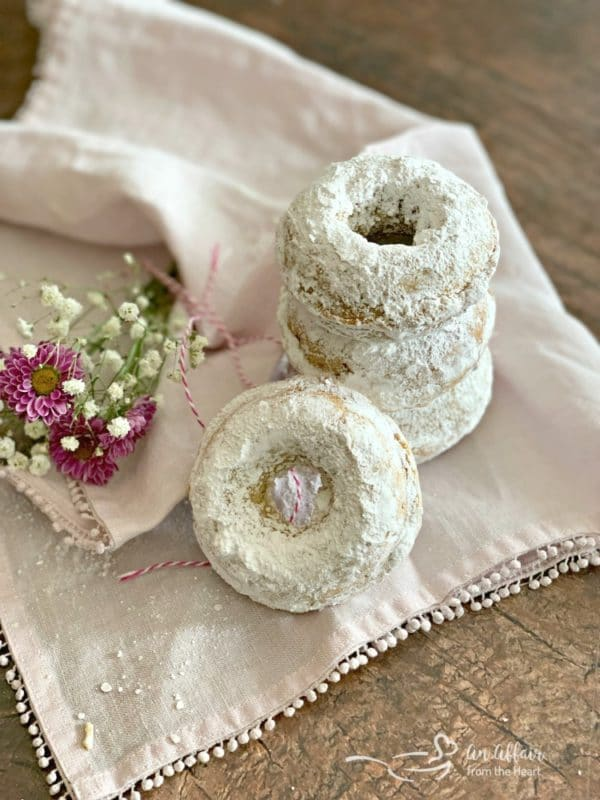 Baked Powdered Sugar Donuts