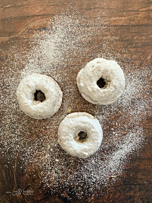 Powdered Sugar Donuts The Perfect Cake Donut