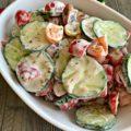 Cucumber & Tomato Salad with Yogurt Dressing
