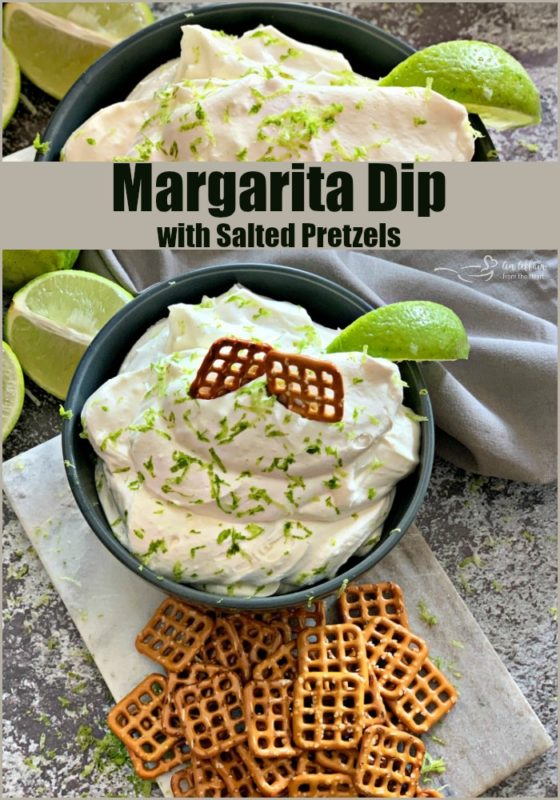 Margarita Dip with Salted Pretzels