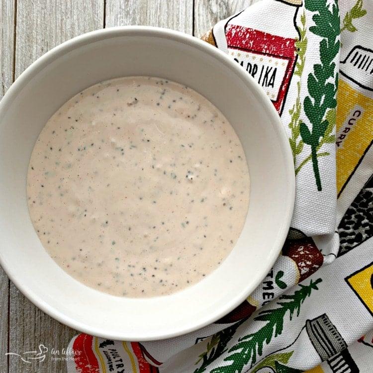 Bloody Mary Aïoli white bowl