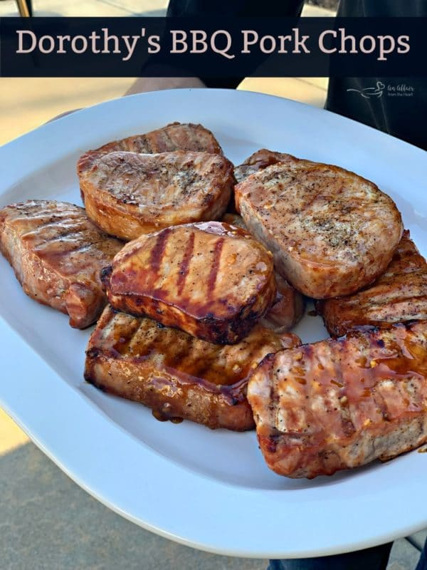 Dorothy's BBQ Pork Chops on a platter