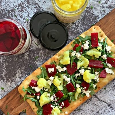 Flatbread with Pickled Veggies