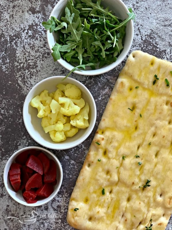 Flatbread with Pickled Veggies