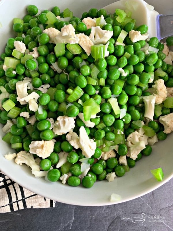 Pea Salad with Cauliflower