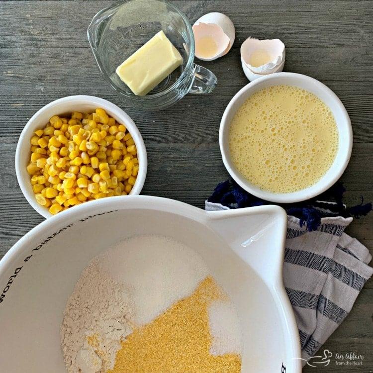 Corn Fritters prep