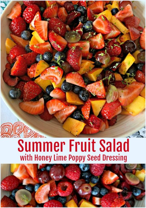 Summer Fruit Salad with Honey Lime Poppy Seed Dressing - An Affair from the Heart
