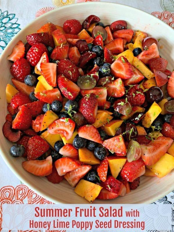 Summer Fruit Salad with Honey Lime Poppy Seed Dressing HERO