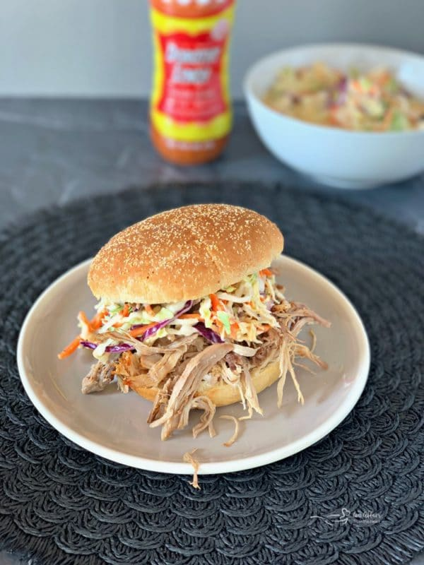 Crock Pot Pulled Pork with Dorothy Lynch Cole Slaw